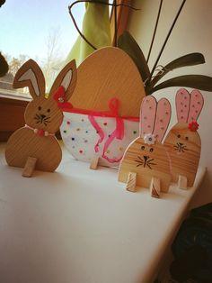 Holzhasen und Ei Bunny, Eggs, Crafting