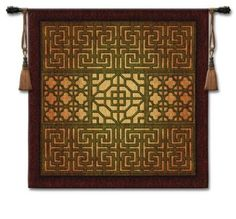 "Eastern Lattice Wall Hanging 53"" x 53"""