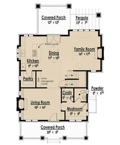 The Arts and Crafts Bungalow - Without Garage I | The Red Cottage Floor Plans, Home Designs, Commercial Buildings, Architecture, Custom Plan...