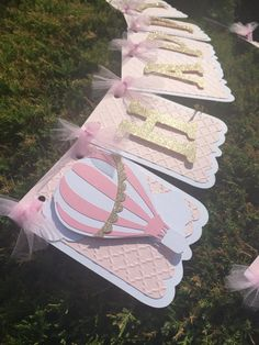 GOLD & PINK BIRTHDAY BANNER  https://www.etsy.com/listing/462797991/hot-air-balloon-pink-and-gold-birthday