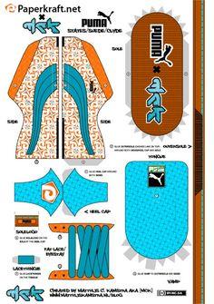 Blog Paper Toy paper sneaker Puma Clyde color template preview Sneakers Puma en papier (x 2)