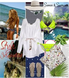 """""""Sunnies and Swimwear"""" by elena-starling ❤ liked on Polyvore"""