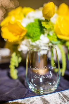 Personalized Wine Glass Favor | Beautiful Day Photography | TheKnot.com