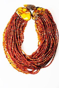 Monies Amber Multi Strand Necklace » Jewelry » Necklaces » Santa Fe Dry Goods | Clothing and accessories from designers including Issey Miya...