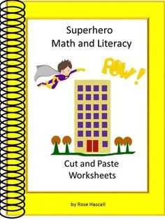 Printables Superhero Teacher Worksheets superhero teacher worksheets and design your own math literacy cut paste worksheets