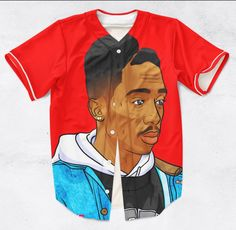 Tupac Portrait 3D Sublimation Print Jersey