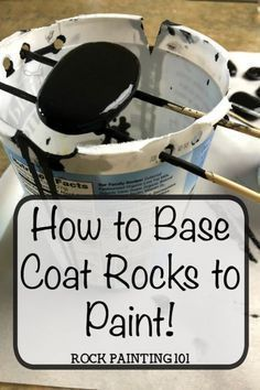 Add a base coat to your rocks ~ The fast and cheap way! Base Coat Rocks to paint. Add a quick and inexpensive base coat to your rock painting. This method uses acrylic paint. Perfect for rock hunting! Rock Painting Ideas Easy, Rock Painting Designs, Paint Designs, Paint Ideas, Pebble Painting, Pebble Art, Stone Painting, Painting Art, Painting Lessons