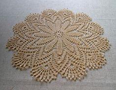 NEW Delicate latte crochet doily with fancy rim by VerLenCrochet