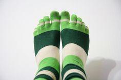 toe socks . . .