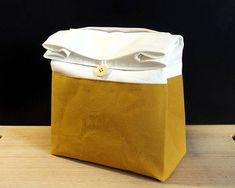 Lunch bag for men Zero waste gift for her Cotton lunch bag