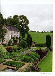 A Gloucestershire Rectory. This is basically where I want to live. I wonder how hard it would be to make my house look like that?