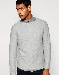 """Jumper by Selected Breathable knit Round neck Raglan sleeves Ribbed trim Regular fit - true to size Machine wash 100% Cotton Our model wears a size Medium and is 188cm/6'2"""" tall"""