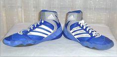 Adidas Men's Ape Blue Lace Up Athletic Wrestling Shoe Size US 12 #adidas #WrestlingShoe