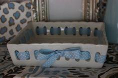 """7"""" Square Ceramic Basket  www.hungouttobuy.com"""