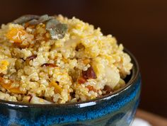 Quinoa with Squash, Pears, + Almonds
