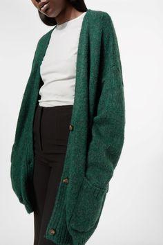 Weekday Yasmin Cardigan in Green Bluish Dark