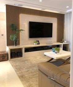 Room Interior, Home Interior Design, Tv Unit Furniture Design, Modern Tv Wall Units, Living Room Tv Unit Designs, Hotel Room Design, Living Room Decor Cozy, Apartment Design, Home Deco