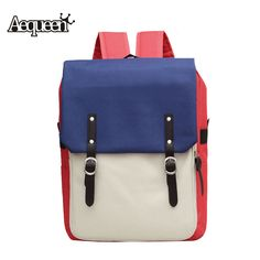 80a213d1e2c AEQUEEN Nylon Backpack Preppy Style Hit color Multifunction Women Large  Capacity Laptop Backpacks School Bags For Teenagers Girl