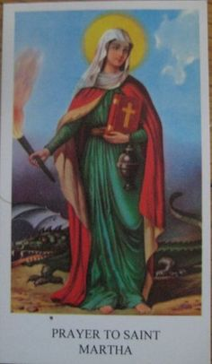 Saint Martha   Patron saint of restaurant workers and helpers
