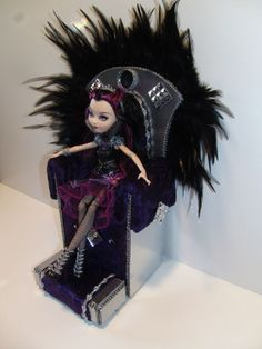 Ever After High Furniture * Throne and Footstool* for Raven doll! Handmade