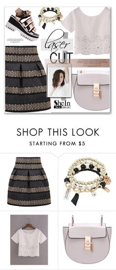 """shein laser cut"" by nanawidia ❤ liked on Polyvore featuring Sheinside and shein"