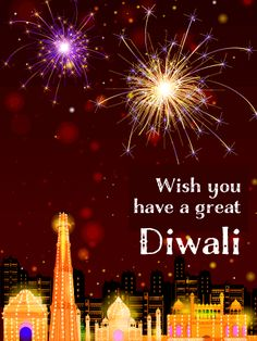 Send Free An Illuminated City - Happy Diwali Card to Loved Ones on Birthday & Greeting Cards by Davia. It's free, and you also can use your own customized birthday calendar and birthday reminders. Happy Diwali Pictures, Happy Diwali Wishes Images, Happy Diwali Wallpapers, Birthday Calendar, Card Birthday, Birthday Greeting Cards, Birthday Greetings, Diwali Cards, Diwali Greetings