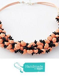 "Collar de Conchas Naturales ""Cereza"" color salmón La Toja de Artesania La Toja…"