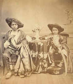 Two Maratha Boys from Akalkot, 1867 - Old And Vintage Photographs Of Mumbai Bombay Page 2 of 2 Best of Web Shrine History Of India, Asian History, Om Namah Shivaya, Vintage Photographs, Vintage Images, Udaipur, Jaisalmer, Old Pictures, Old Photos