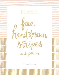 Freebie Friday: Hand-drawn Vector Stripes and Patterns — June Letters Studio
