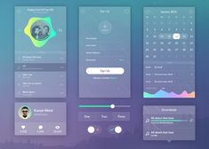 Zen is small UI kitpackage with a transparent interface.Suitable for your new iOS 7application. It contains next elements: calendar, music player, sign up form, slider etc.Author of Zen Transparent UI Kit isVirgil Pana. You can check out his Dribbble portfoliohere.