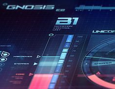 Gnosis E2 spaceship virtual interface,Speed drawing challenge, second one,Takes 8 hours for made this image. All graphics elements was exclusively made for this image.