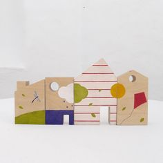 Wooden baby toy, eco-friendly, house blocks toy #babygift