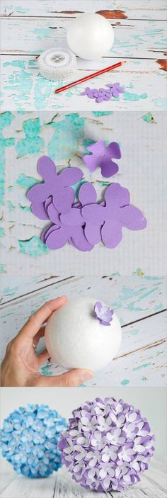 Creative Ideas – DIY Paper Flower Kissing Ball for Wedding #craft #decor #wedding #flower_ball