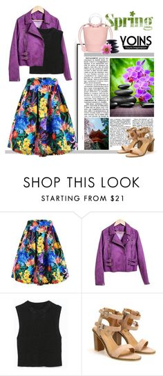 """""""Flowers in spring"""" by gina-m ❤ liked on Polyvore featuring мода, contest, Flowers, skirts, fashionset и yoins"""