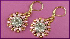 DIY   Perlen Ohrringe   Schmuck fädeln   Beaded twin bead earrings   Bea...