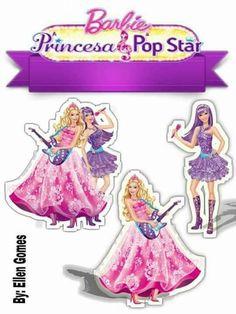 Barbie Birthday Party, Barbie Party, Birthday Parties, Barbie Pop Star, Bolo Barbie, Birthday Decorations, Cake Toppers, Aurora Sleeping Beauty, Birthdays