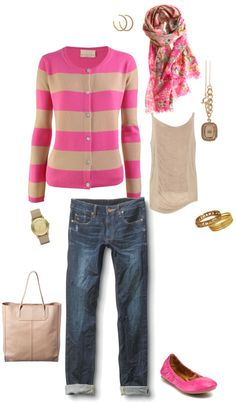 """""""colorful preppy..."""" by stacychidaushe ❤ liked on Polyvore"""