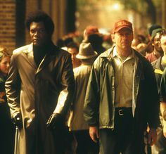 Samuel L Jackson and Bruce Willis in Unbreakable