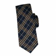 Cravate en laine et soie marine à carreaux marron #cravate http://www.cafecoton.fr/cravate-soie-homme/10865-cravate-en-soie-marine-a-carreaux-marron.html