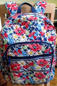 "Vera Bradley Summer Cottage Laptop Backpack Retired Pattern 16"" #VeraBradley #Backpack"