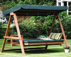 gorgeous green swing bed in the backyard with shade 29 Hanging Bed Design Ideas To Swing In The Good Times Backyard Swings, Backyard Seating, Pergola Swing, Porch Swing, Bed Swings, Backyard Pergola, Backyard Ideas, Outdoor Hanging Bed, Outdoor Beds