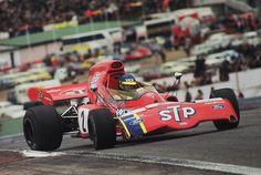 Ronnie Peterson - STP March Racing Team, e seu March 721X no GP da Espanha de 1972, circuito de Jarama