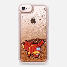 Casetify iPhone 7 Liquid Glitter Case - Iron Cat by Mint Corner