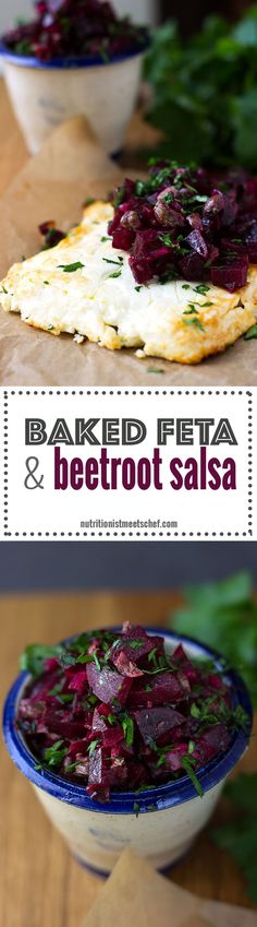 Baked Feta with Beetroot Salsa! A meal that's great as a main or as a starter!