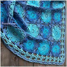 Rustic Lace Square using Alize Bella Batik yarn