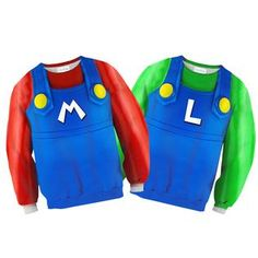 It's the famous Italian plumber duo, here to save the day! Save The Day, Significant Other, Red Green, Sweatshirts, Plumbing, Sweaters, Shopping, Collection, Tops