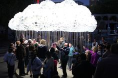 CLOUD: An Interactive Sculpture Made from 6,000 Light Bulbs by Caitlind r.c. Brown. September 15, 2012