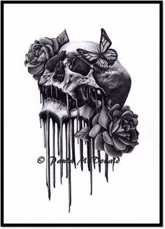 Skulls 'n' Roses by =pbird12 on deviantART