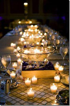 candlelit reception - so pretty