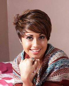 Top Pixie Style Dark Brown for Thick Hair